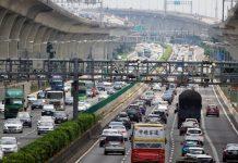 Trafic chargé sur les autroutes taiwanaises (Photo CNA)