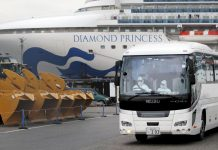 Evacuation du navire de croisière Diamond Princess (photo : Reuters/TPG)